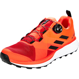 adidas TERREX Two Boa Chaussures de trail Homme, scarlet/core black/solar red